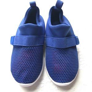 Cat & Jack Blue Knit Velcro Boys Sneakers Sz 10